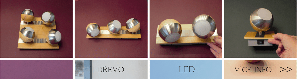 Dřevěné LED bodovky
