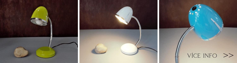 Barevné stolní lampičky