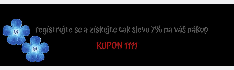 KUPON 1111 - platí po registraci v našem obchodě
