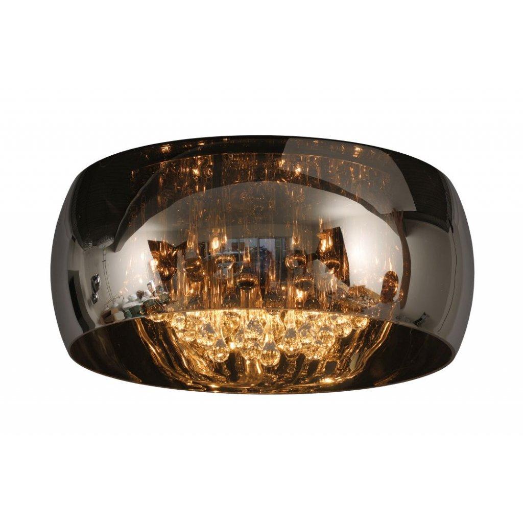 70163/06/11 PEARL přisazené svítidlo 6xG9 kouřové sklo s ověsy a chrom