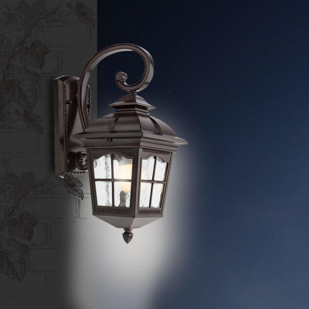 RENO316 1 venkovní svítidlo na zeď antická hnědá a sklo obchod svitidla pikomal tma jpg
