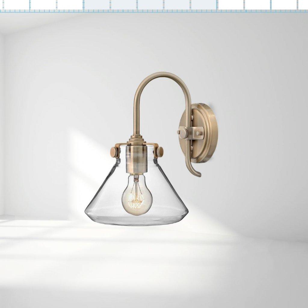 BEST411 1 světlo na zeď antická mosaz luxusní se sklem obchod svitidla pikomal jpg