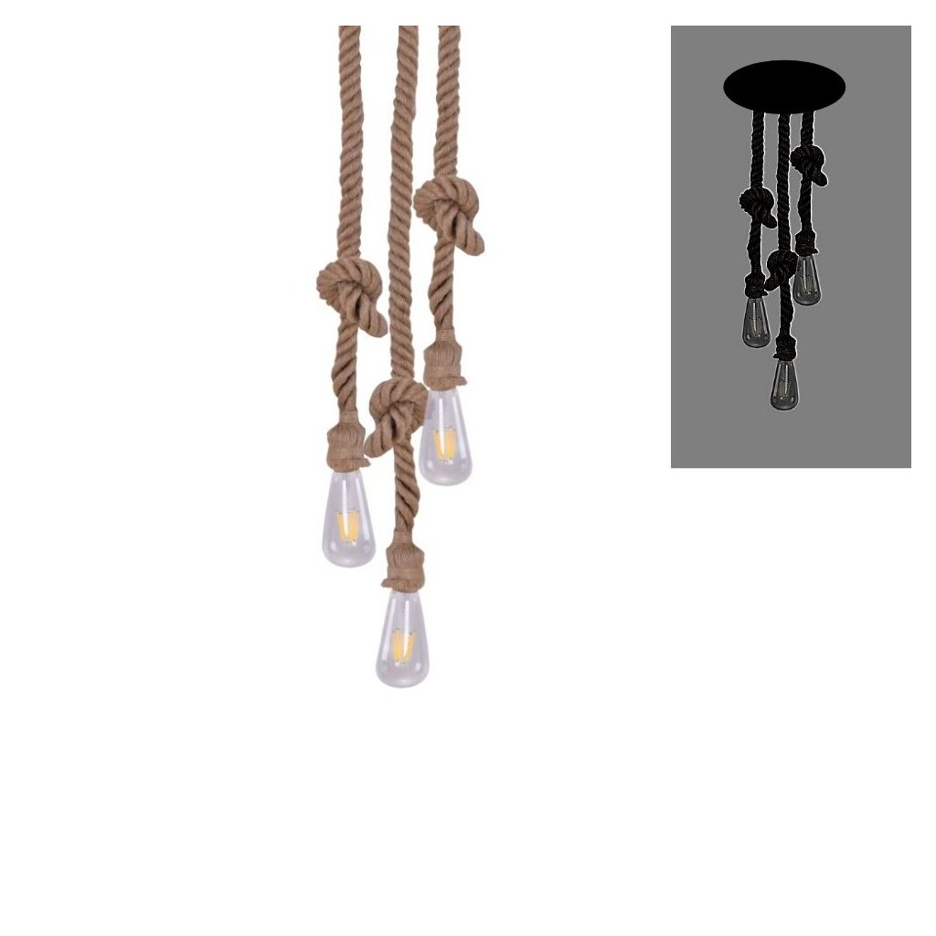 MAYA 4344 provazové závěsné svtidlo přírodní barva obchod svitidla pikomal