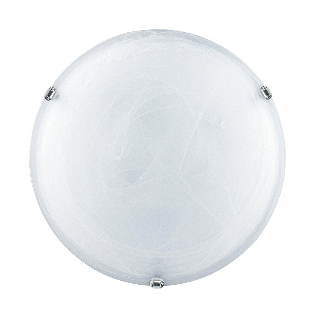 32/04010 DUNA stropní svítidlo 3xE27 bílé sklo a lesklý chrom