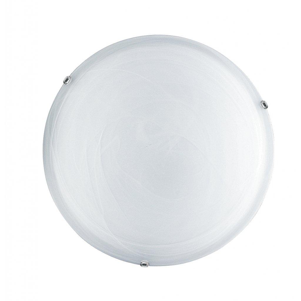 32/28201 DUNA stropní svítidlo 2xE27 bílé sklo a lesklý chrom