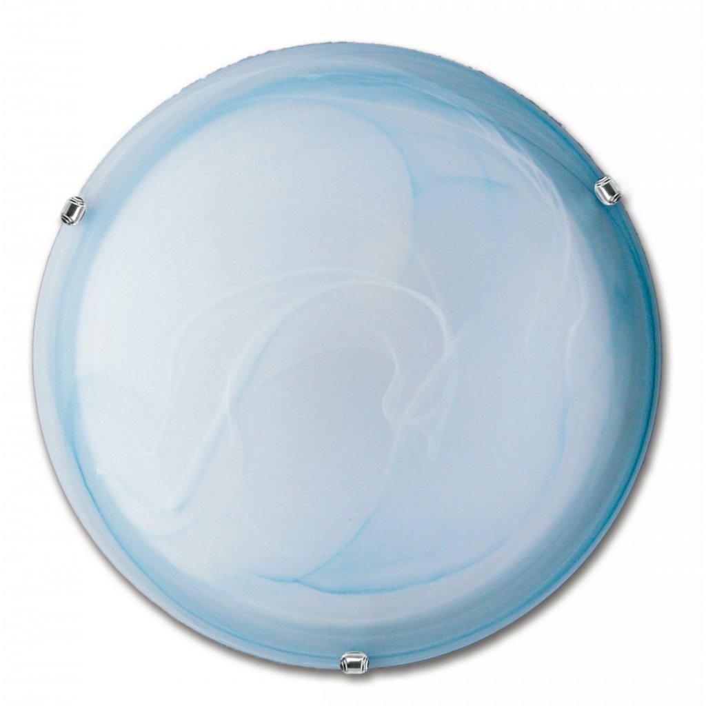 32/28901 DUNA stropní svítidlo 1xE27 modré sklo a lesklý chrom