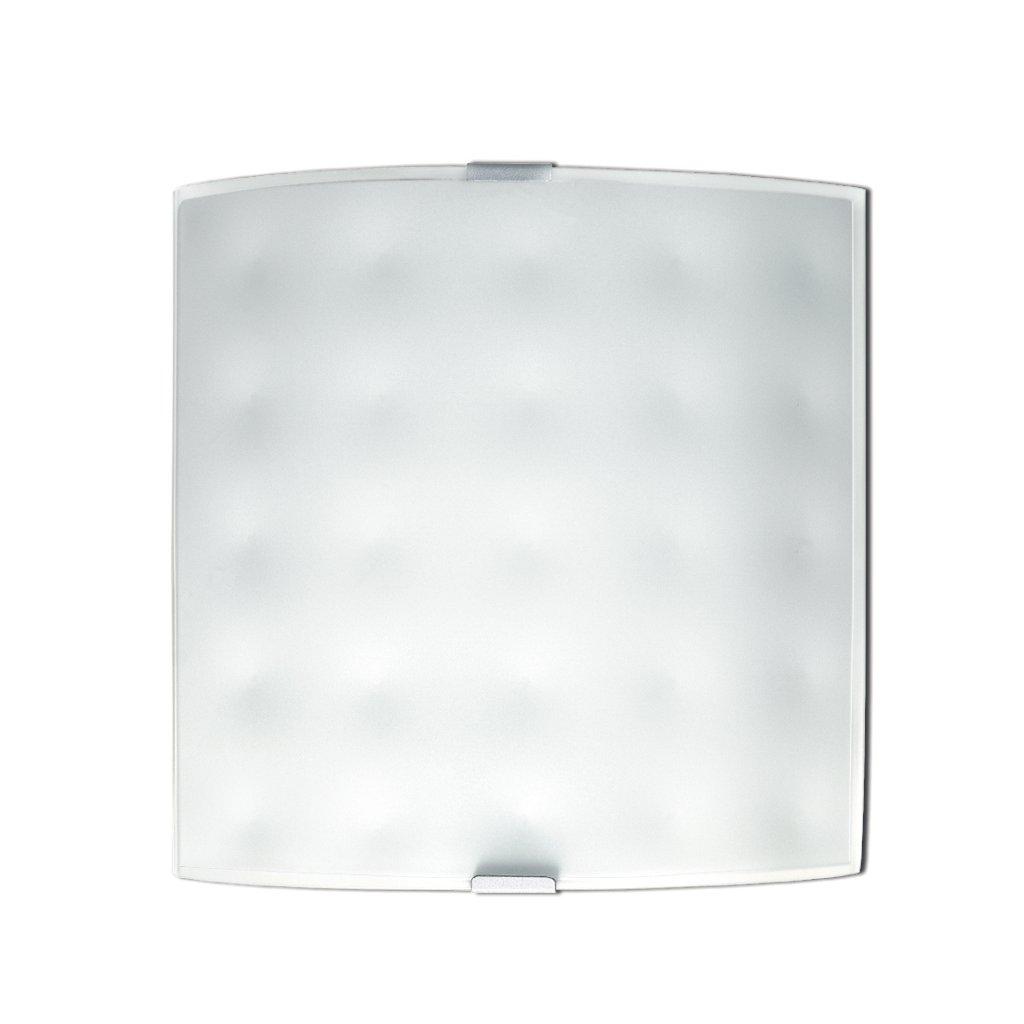 47/00312 APPLIQUE přisazené na stěnu 1xE27 bílé sklo s dekorem stínových důlků
