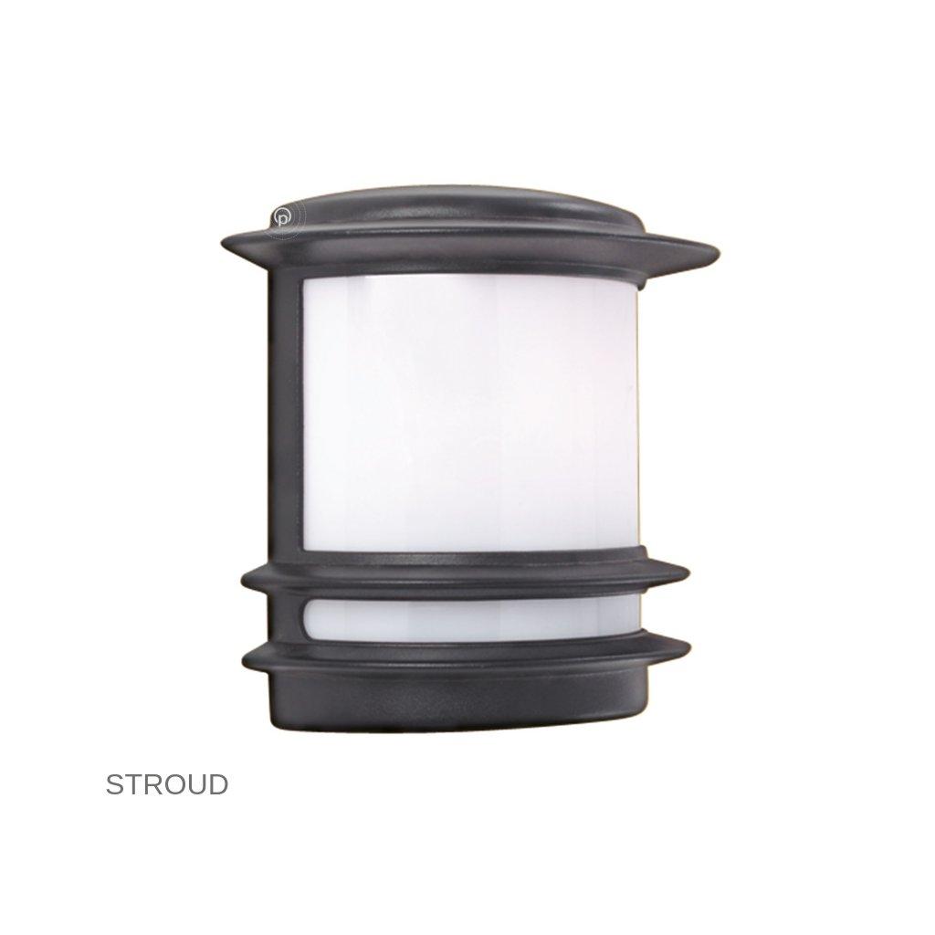 1812 STROUD Searchlight venkovní svítidlo na stěnu 1xE27 černá www pikomal cz