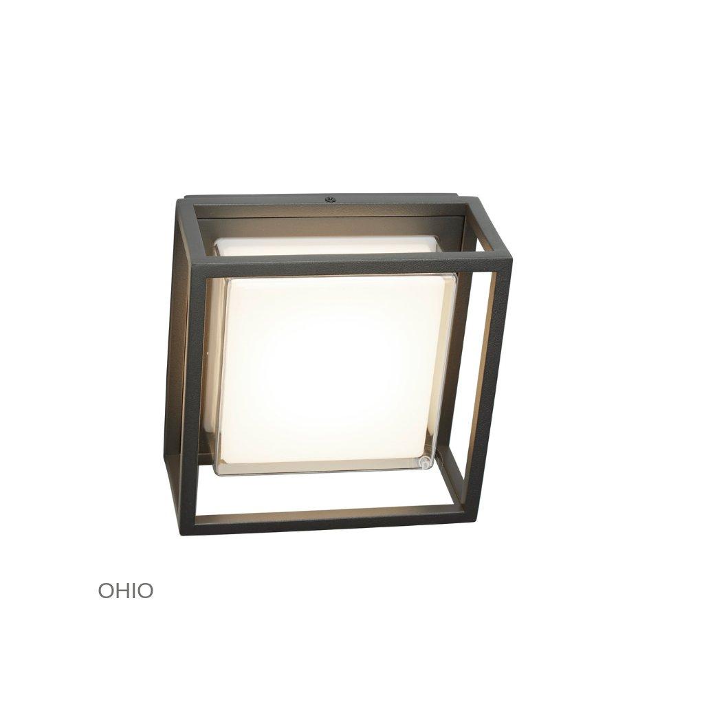 3812GY OHIO venkovní svítidlo na stěnu LED tmavě šedá www pikomal cz