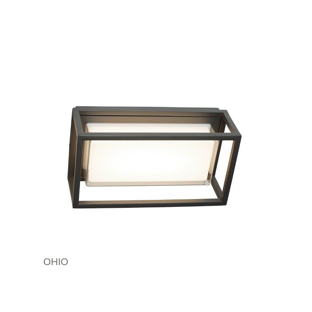 3831GY OHIO venkovní svítidlo na stěnu LED tmavě šedá www pikomal cz