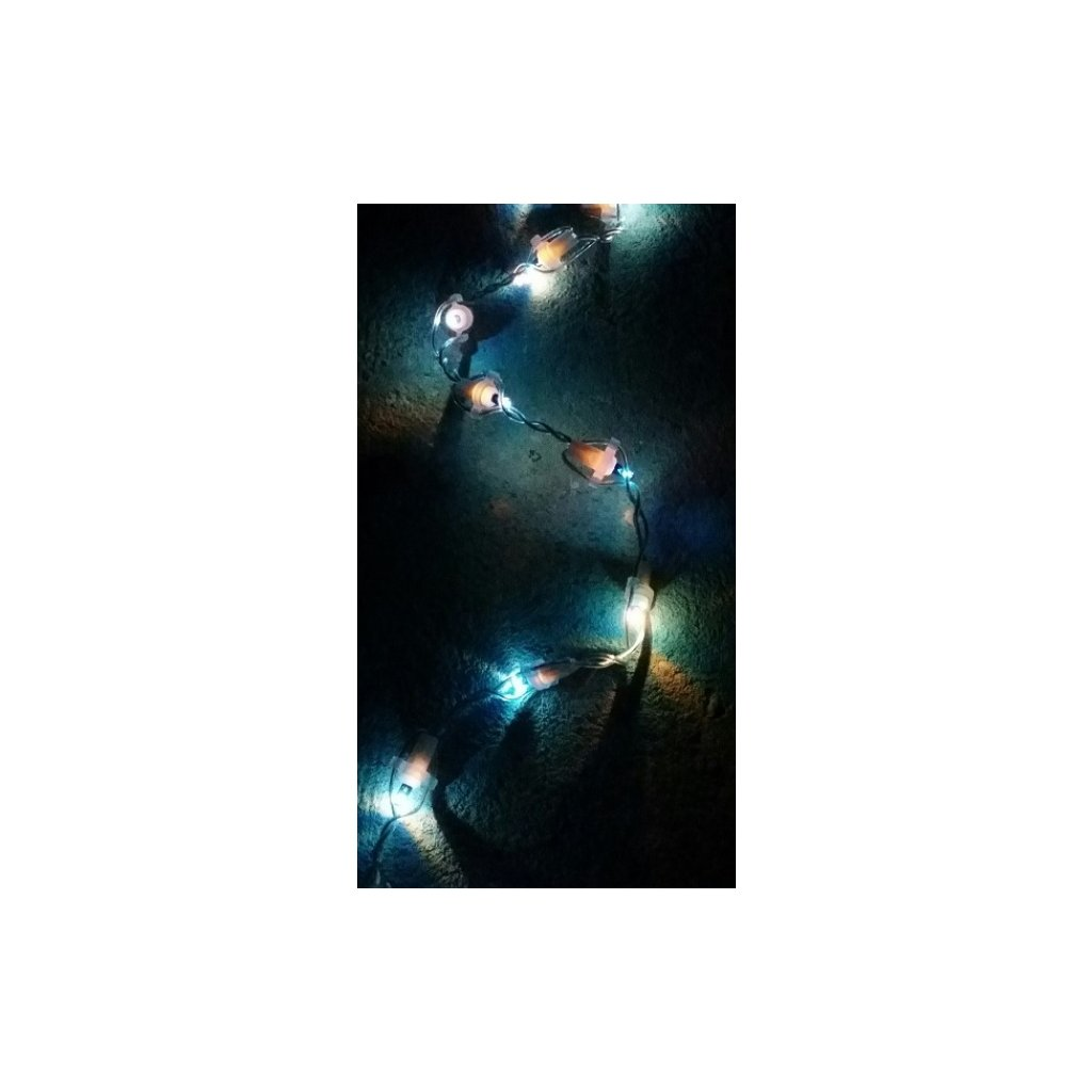 48503 COLOR transparentní kabel 100 LED světla barva modrá (N1)