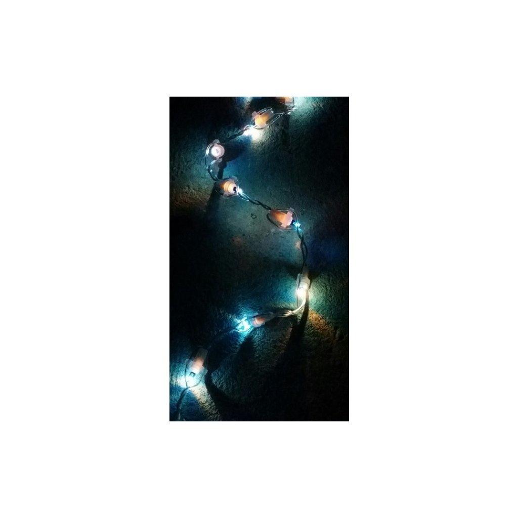48503 COLOR transparentní kabel 100 LED světla barva modrá