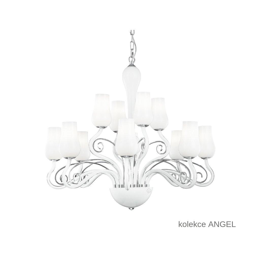 I ANGEL 12 FANEUROPE závěsné bílé skleněné svítidlo na www pikomal cz