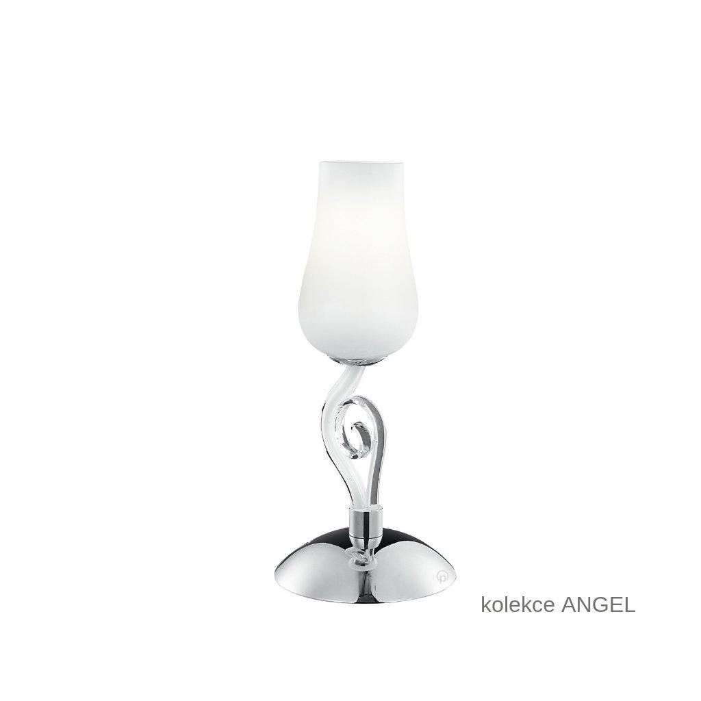 I ANGEL L1 FANEUROPE stolní lampa bílé skleněné svítidlo na www pikomal cz