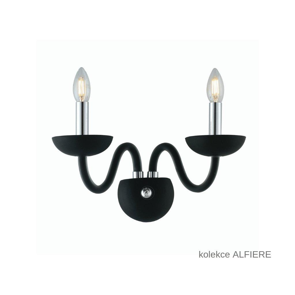 I ALFIERE AP2 NERO FANEUROPE přisazené černé skleněné svítidlo na www pikomal cz