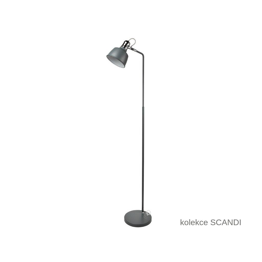 EU2953GY SCANDI stojací lampa šedá Searchlight www pikomal cz