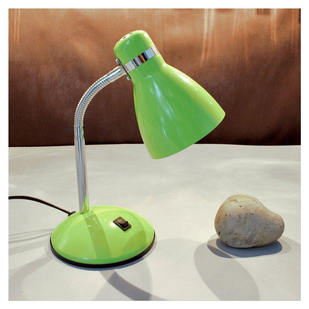 20056 stolní lampa dětská zelená kov chrom obchod svitidla pikomal dagmar senemty