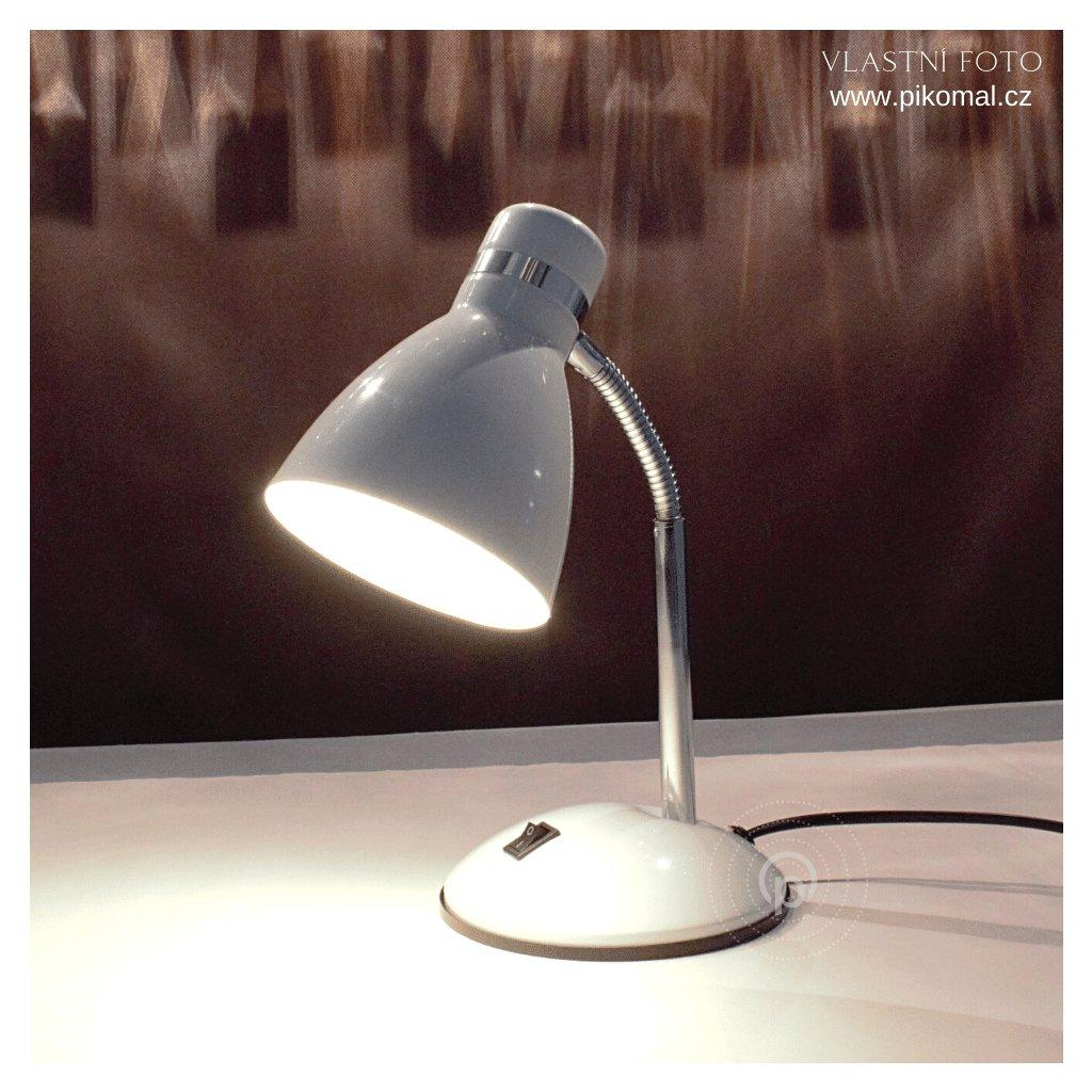 20042 stolní bílá lampička na pracovní stůl s vypínačem obchod svitidla pikomal dagmar touskova