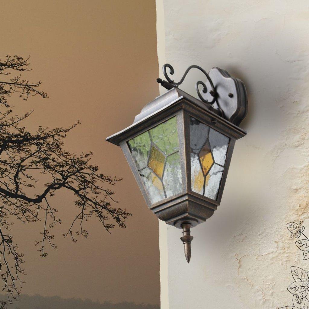 venkovní svítidlo na zeď krytí ip44 hnědé rustikální zdobené obchod svitidla pikomal