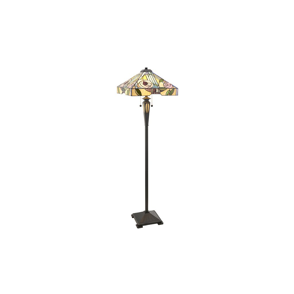 64383 Willow 2xE27 stojací lampa zelená