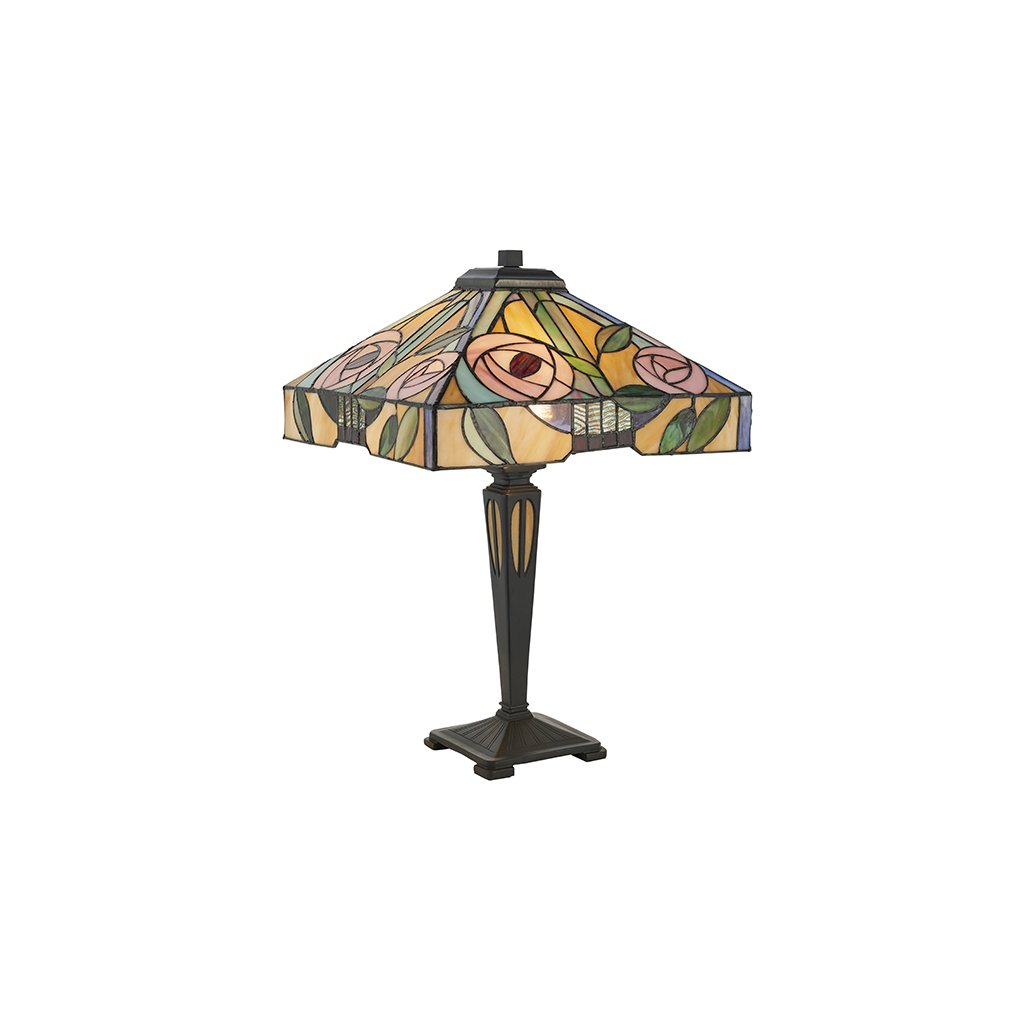 64387 Willow 2xE27 stolní lampa zelená