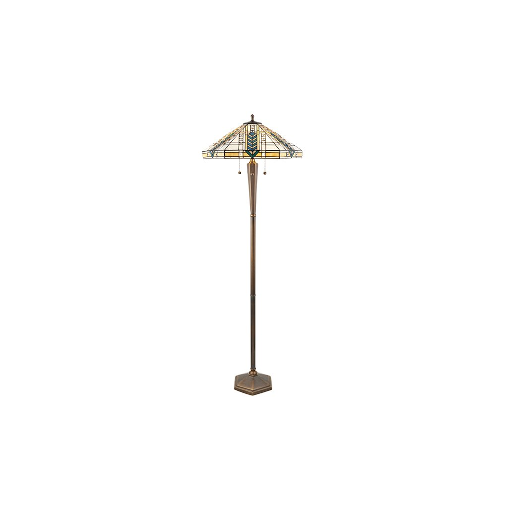 70667 Lloyd 3xE27 stojací lampa žlutá