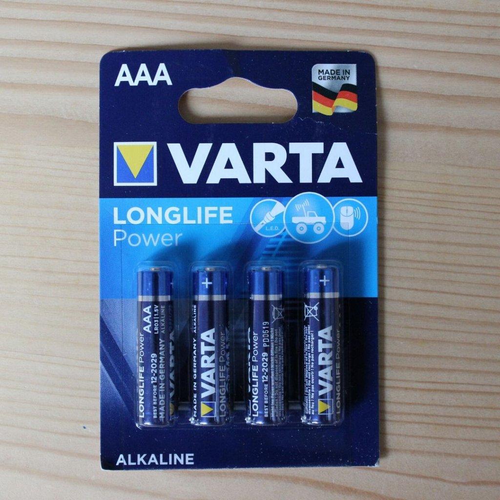 AAA LR03 mikrotužkova baterie varta obchod svitidla pikomal