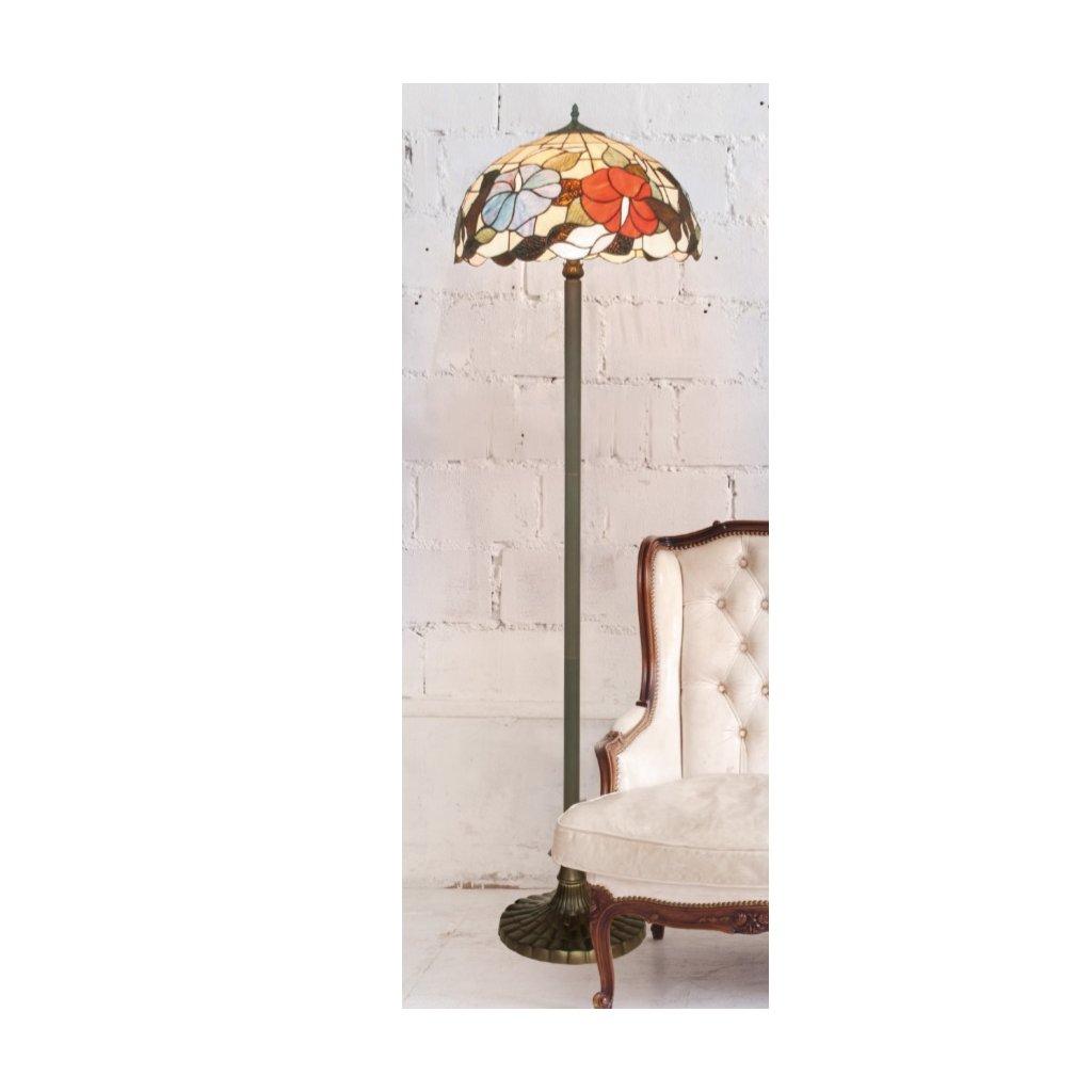 I-NINFA-PT stojací lampa motýl a květiny