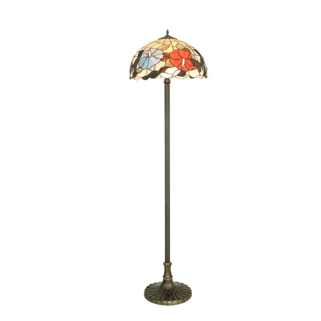 I NINFA PT tiffany stojaci lampa svetlo motyl kvetiny obchod svitidla pikomal