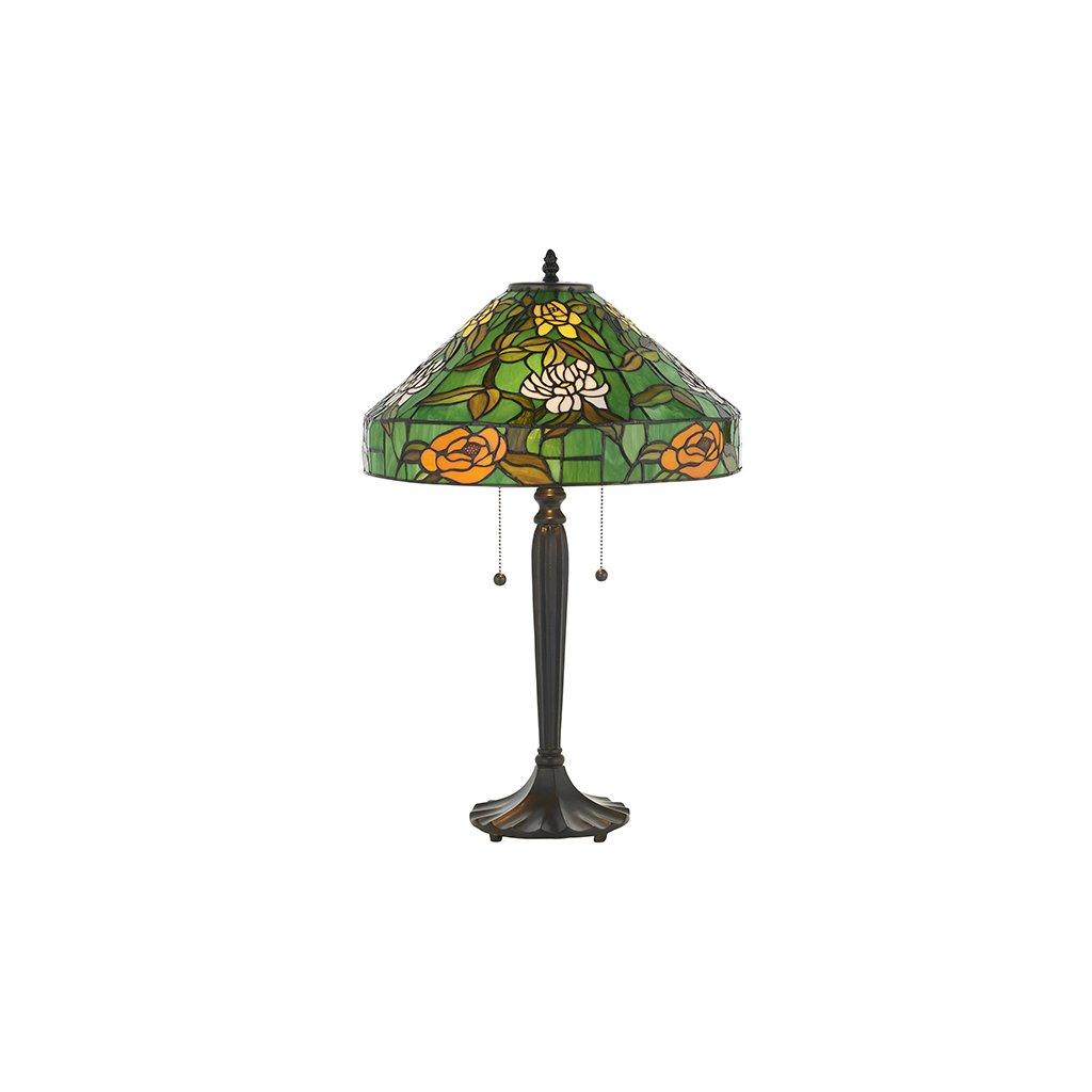 AGAPANTHA stolní lampa 74426 s květy v zeleném (N2)