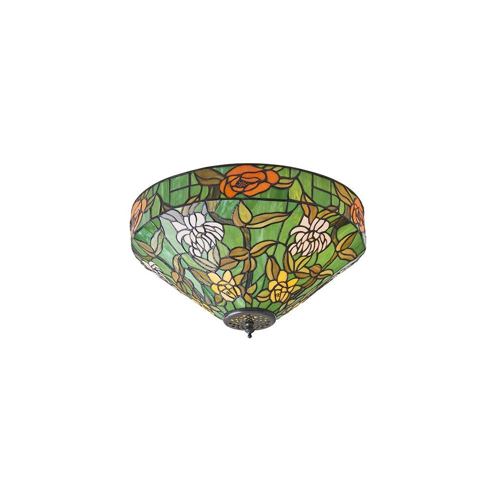 AGAPANTHA stropní svítidlo 74439 s květy v zeleném