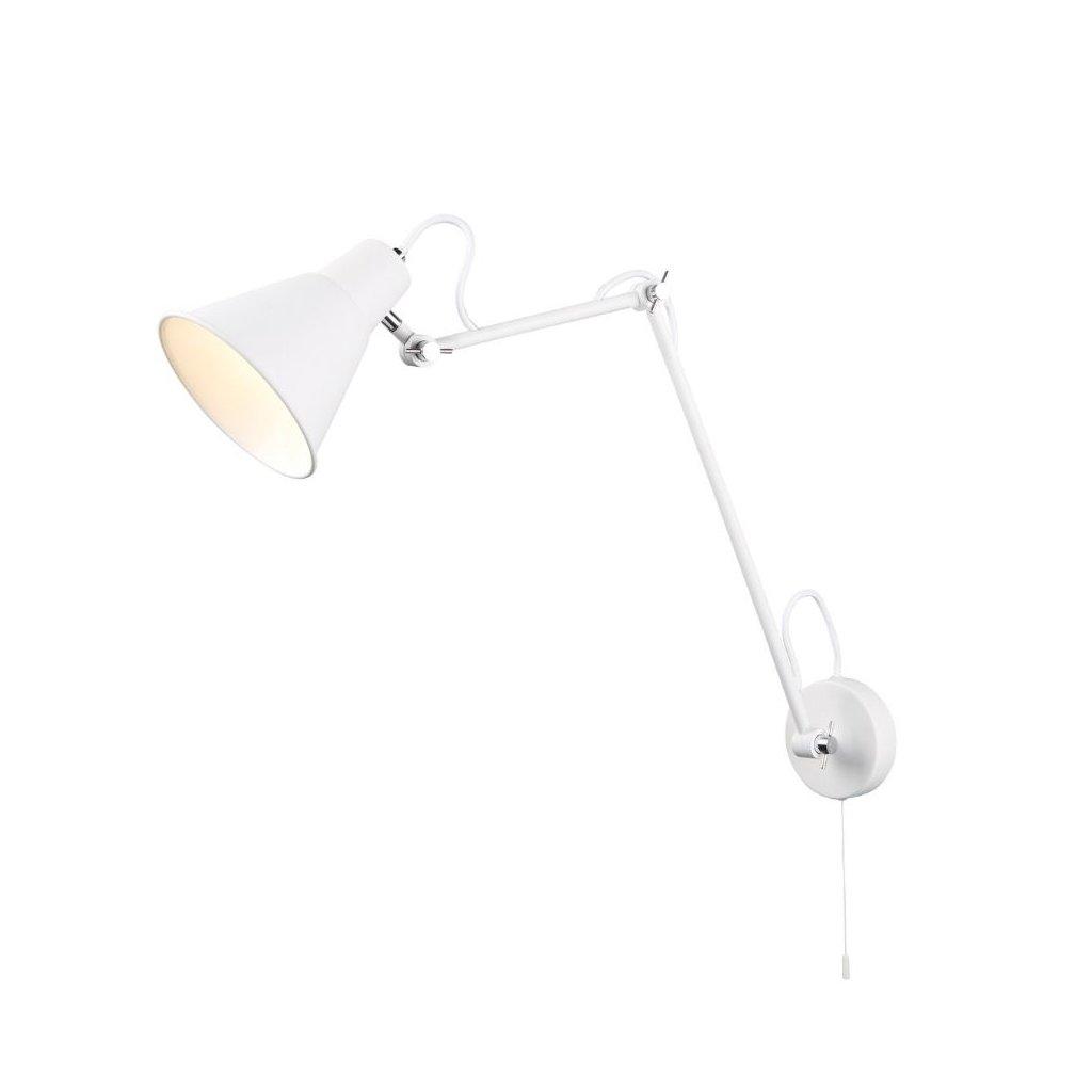 7403WH lampička na stěnu v bílé barvě nastavovací rameno obchod svitidla pikomal