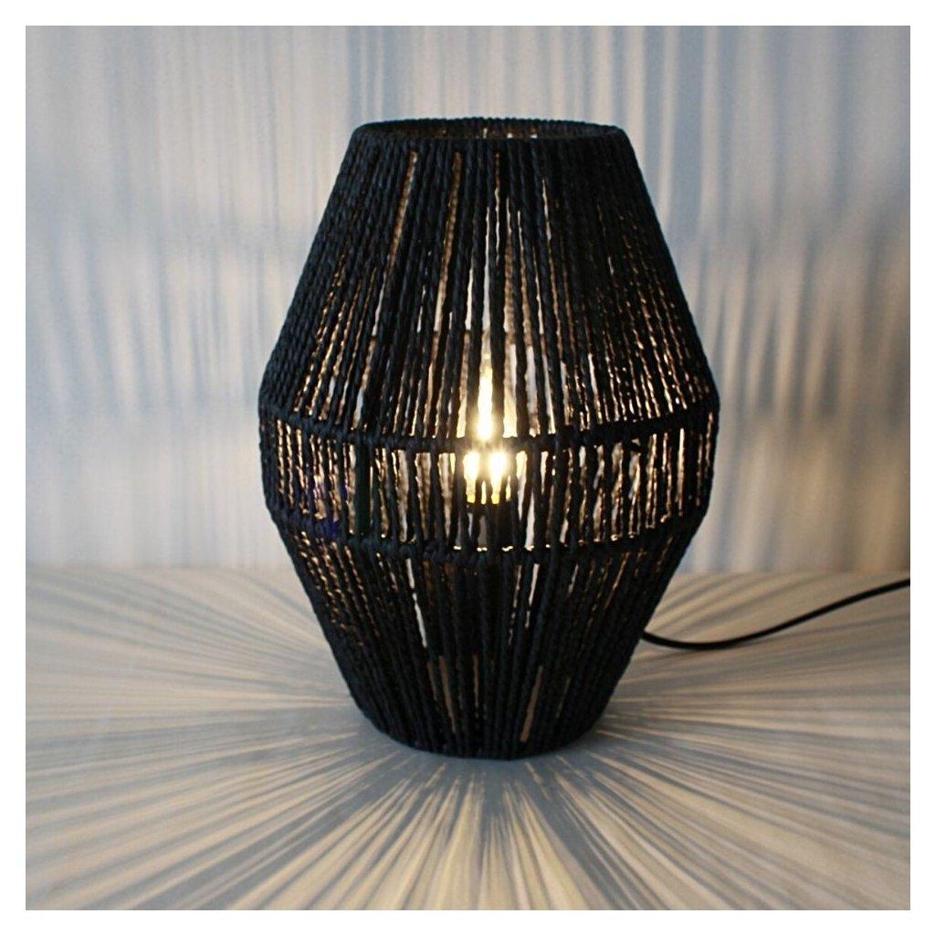 XB 773 detail stolní lampa ratan černá obchod svitidla senemty