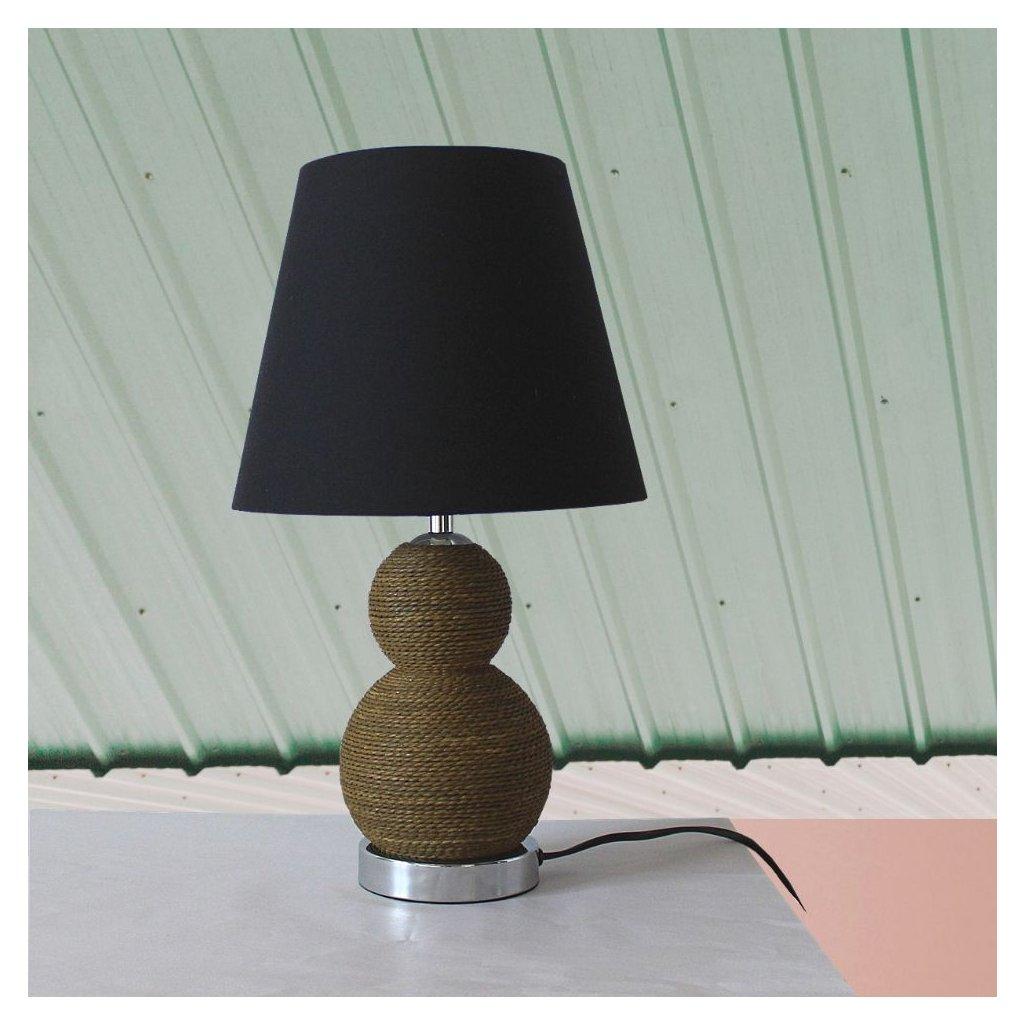EU3414BR stolni lampa hněda černé stínidlo obchod svitidla pikomal
