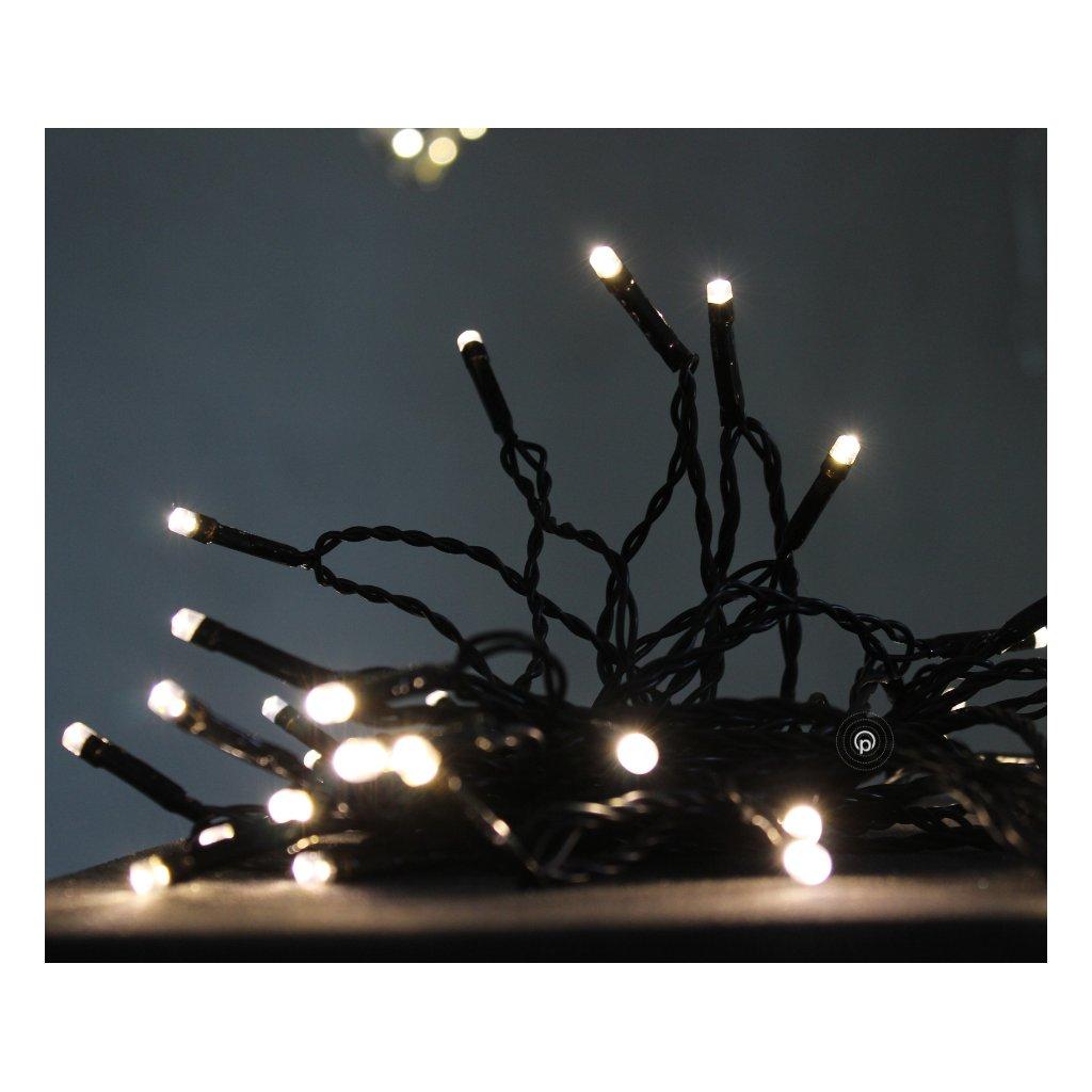 37601 80LED vánoční řetěz černý kabel na www pikomal cz