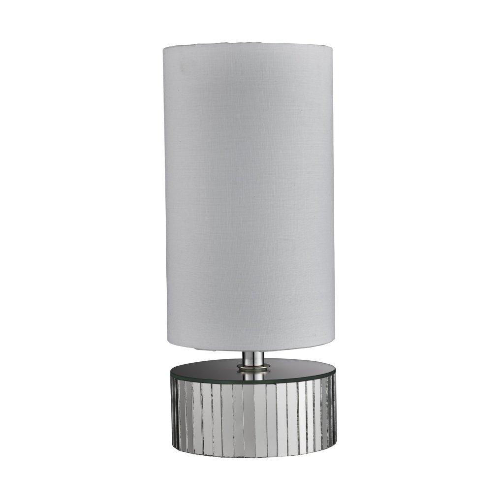 EU700184 MIRROR stolní lampa 1xE14 zrcadlo a textilní stínidlo