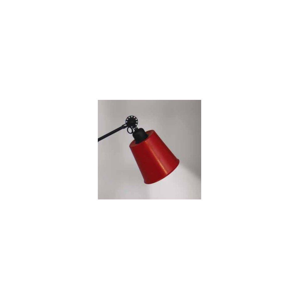 77-3333 stínidlo kovové červené pro E27