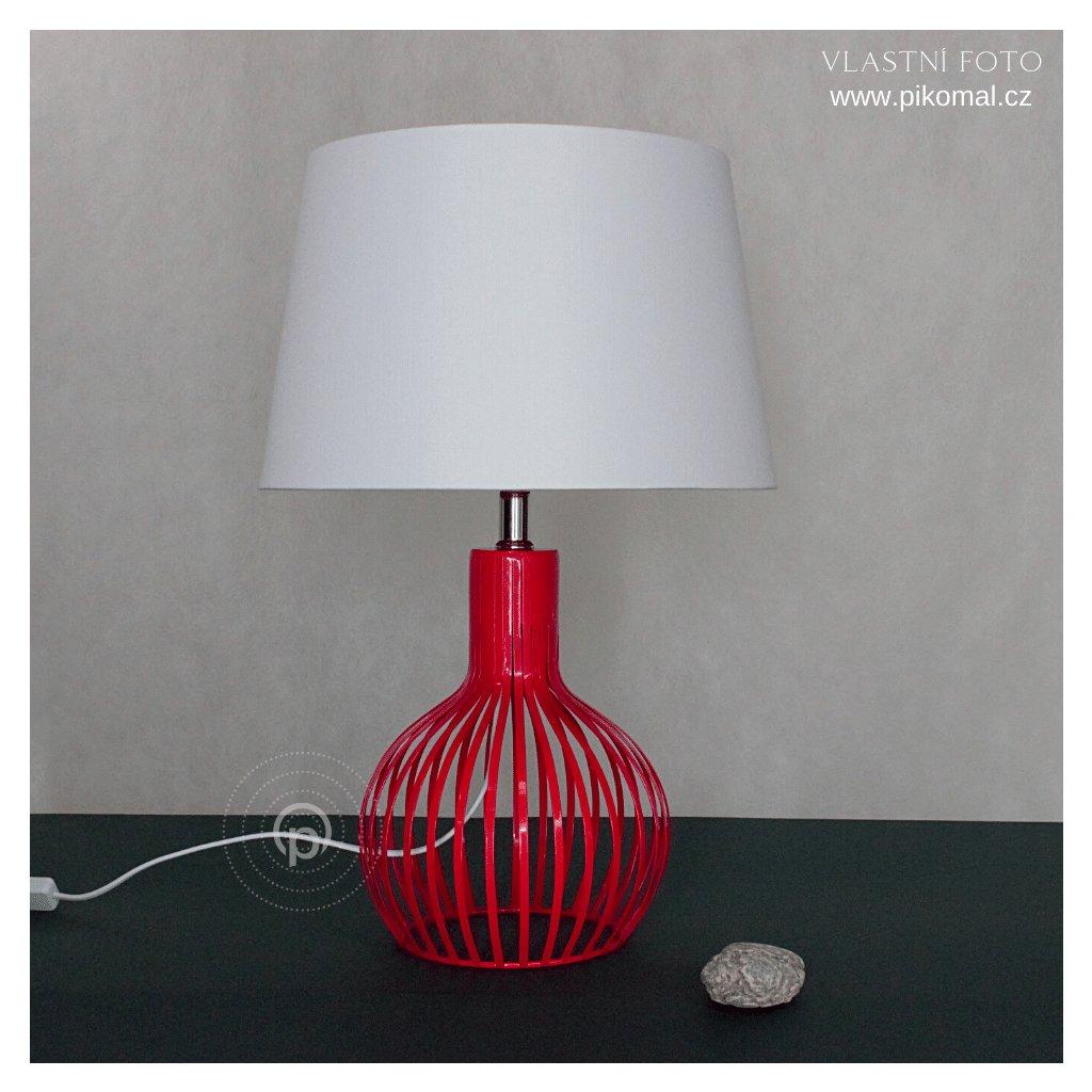 cervena stolni lampa kovova bile stinidlo obchod svitidla pikomal searchlight dagmar touskova zhasnute