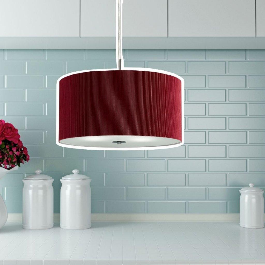 2353 40RE závěsné textilní svítidlo červené nad stůl pikomal