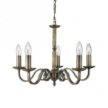 1505 5ab richmond závěsné svítidlo antická mosaz kovová ramena lustr obchod svitidla pikomal