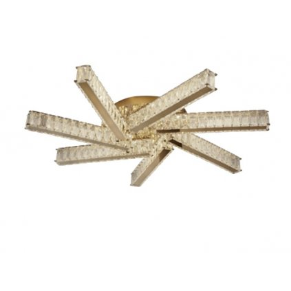 DT24 GOLD přisazené svítidlo LED matná zlatá a křišťálové sklo