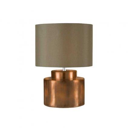 stolni lampa bronzova barva hnede textilni stinidlo obchod svitidla pikomal 4344bz