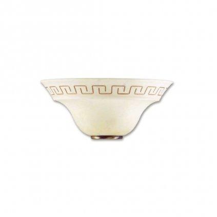 01/01212 TRECENTO svítidlo na zeď 1xE27 mramorované sklo s antickým dekorem a antická mosaz