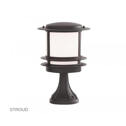 1264 STROUD Searchlight venkovní svítidlo malý sloupek na zem 1xE27 tmavě šedá www pikomal cz