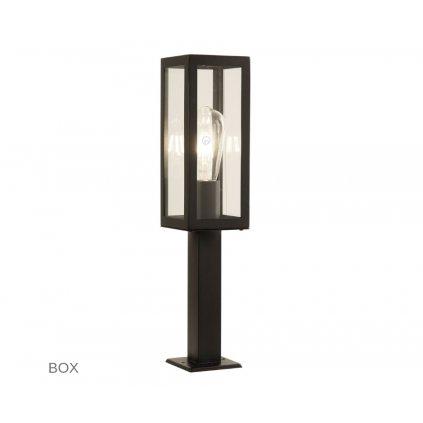 6441 450BK BOX venkovní svítidlo sloupek na zem 1xE27 černá www pikomal cz
