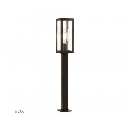 6441 900BK BOX venkovní svítidlo sloupek na zem 1xE27 černá www pikomal cz