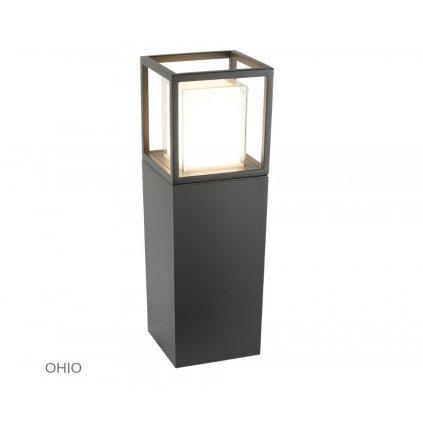 3843 450GY OHIO venkovní svítidlo sloupek na zem LED tmavě šedá www pikomal cz