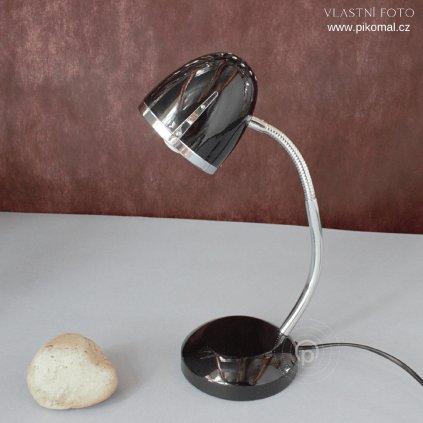 lampička černá na stůl pracovní E27 chrom s vypínačem na kabelu obchod svitidla pikomal dagmar touskova senemty