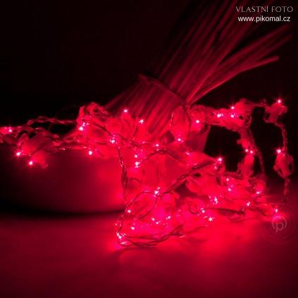 řetěz vanočni červeny led svitidla obchod pikomal dekorace