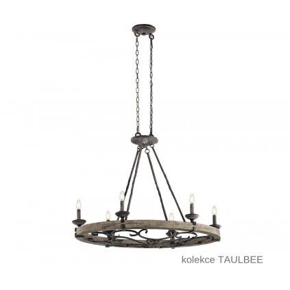 KL TAULBEE 6ISLE ELSTEAD stylový oválný lustr 6xE14 na www pikomal cz